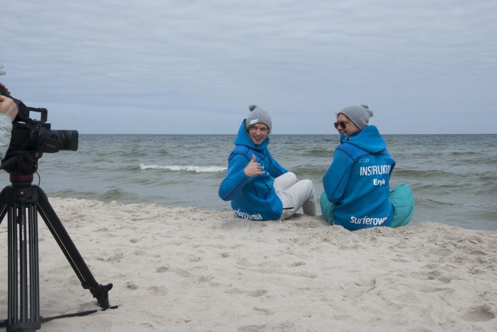 kręcimy film promocyjny o kitesurfingu